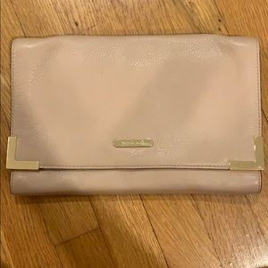Michael Michael Kors Blush Leather Clutch